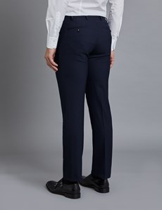 Men's Navy Slim Fit Travel Suit Trousers