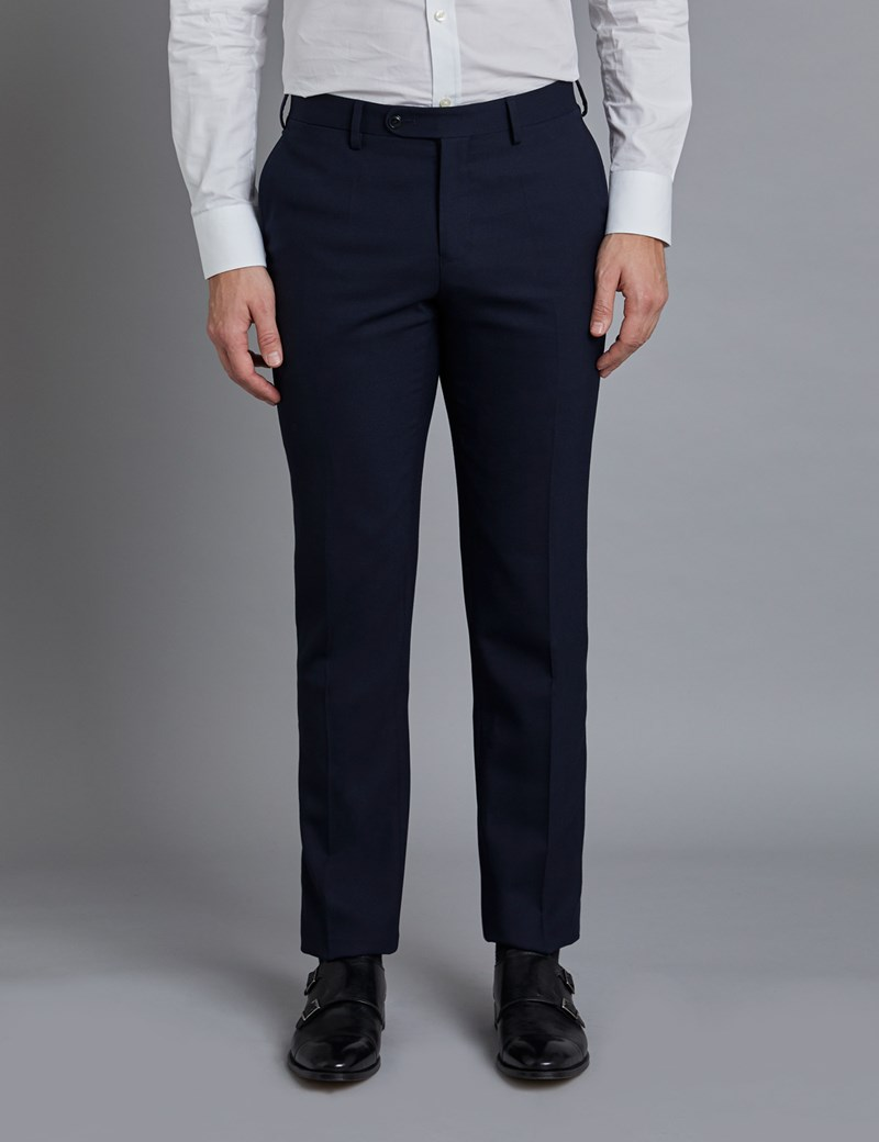 Men's Navy Slim Fit Commuter Suit Trousers