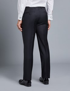 Men's Black Slim Fit Dinner Suit Trouser