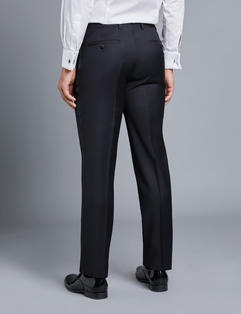 Men's Black Slim Fit Dinner Suit Pants