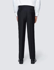 Men's Black Slim Fit Dinner Suit Trousers With Belt Loops