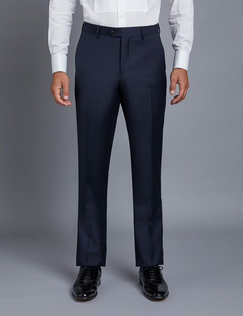 Men's Navy Slim Fit Suit Trousers