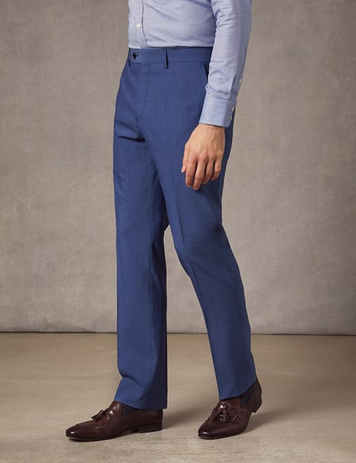 Men's Light Blue Extra Slim Fit Suit Trousers