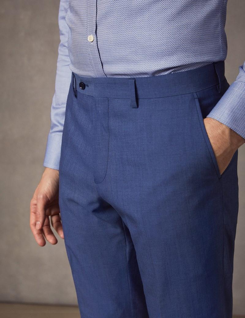 Men's Light Blue Extra Slim Fit Suit Trousers