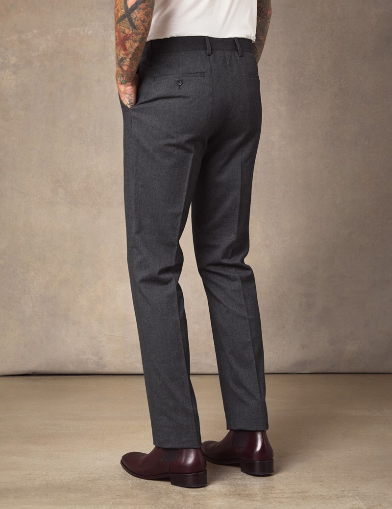 Men's Charcoal Soft Cotton Trousers