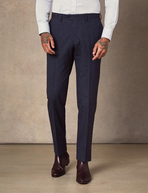 Men's Navy Soft Cotton Trousers