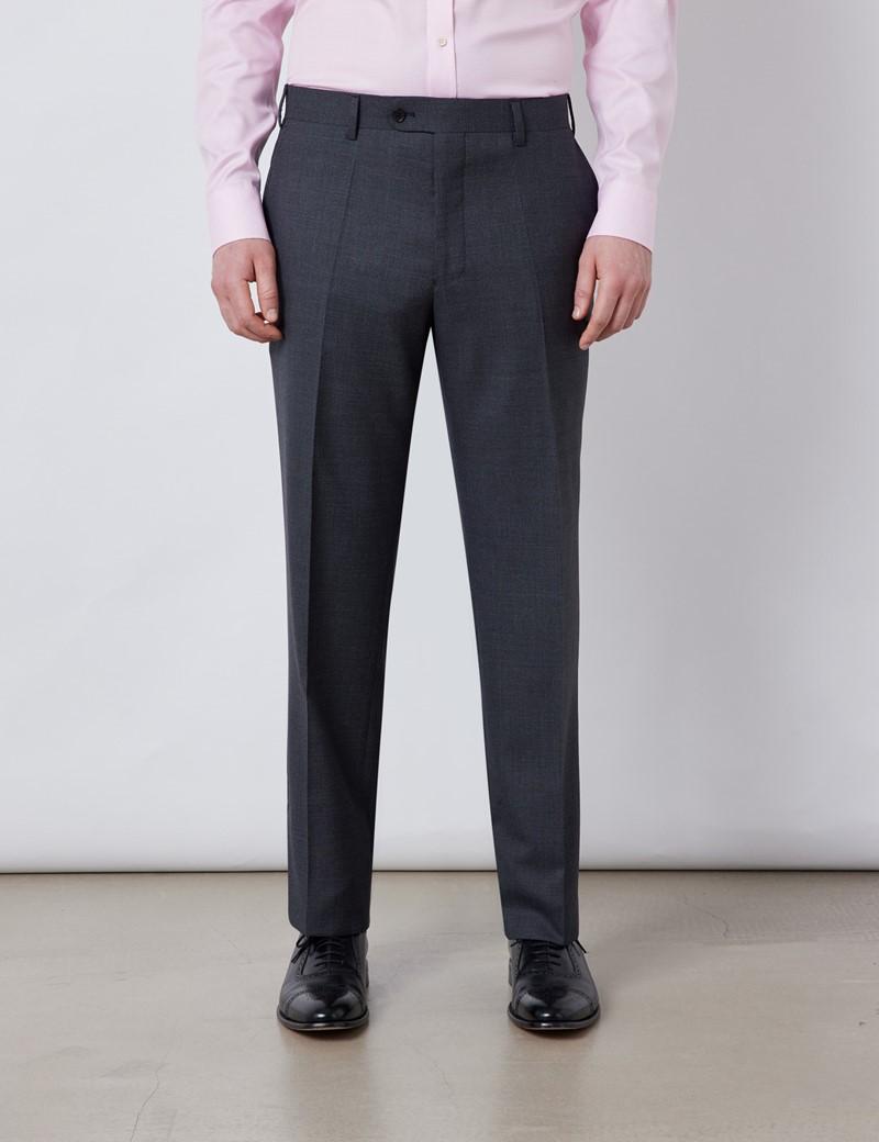 Men's Charcoal Classic Fit Suit Trousers
