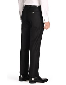 Men's Black Tailored Fit Italian Suit Pants - 1913 Collection