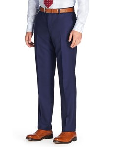 Men's Royal Blue Tailored Fit Italian Suit Trousers - 1913 Collection