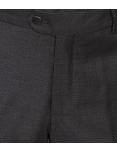 Men's Charcoal Tailored Fit Italian Suit Trousers - 1913 Collection
