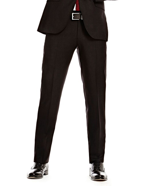 Men's Black Twill Amalfi Classic Fit Suit Trouser