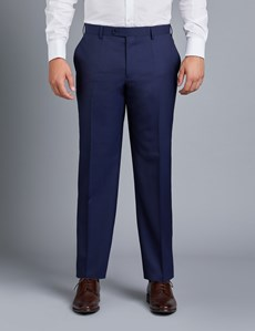 Men's Dark Navy Twill Amalfi Classic Fit Suit Trouser
