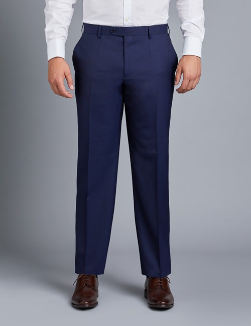 Men's Dark Navy Twill Amalfi Classic Fit Suit Trouser