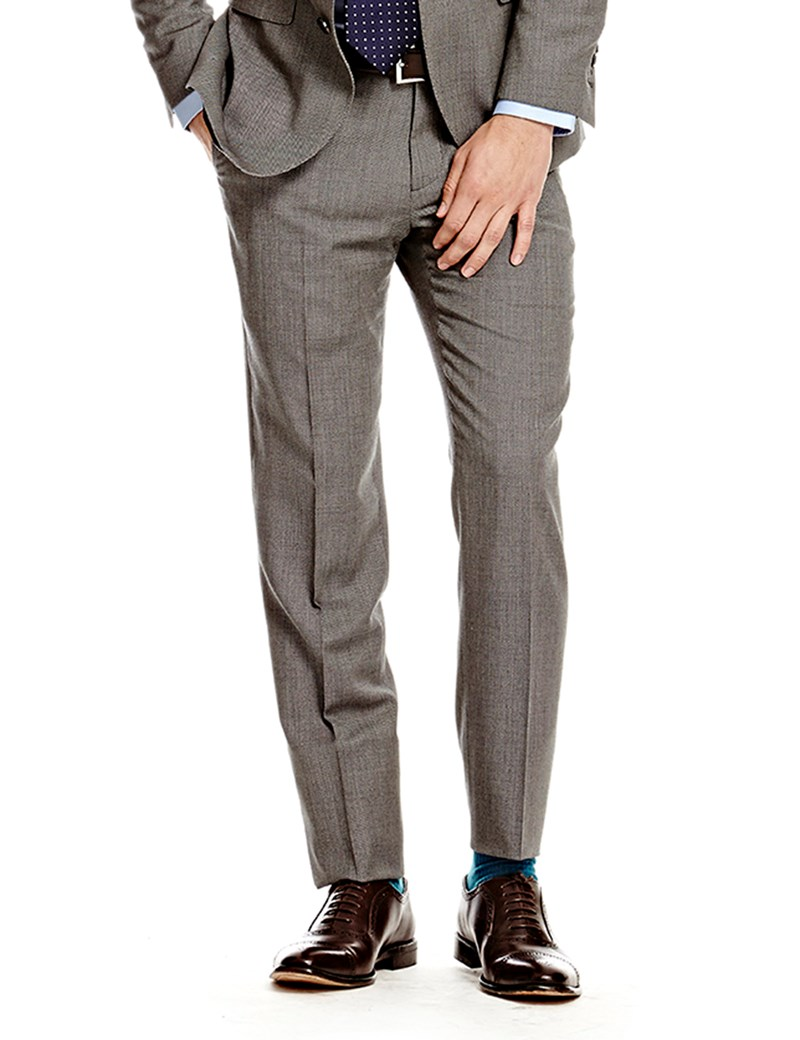 617a4de8d Men's Grey End On End Amalfi Classic Fit Suit Trouser