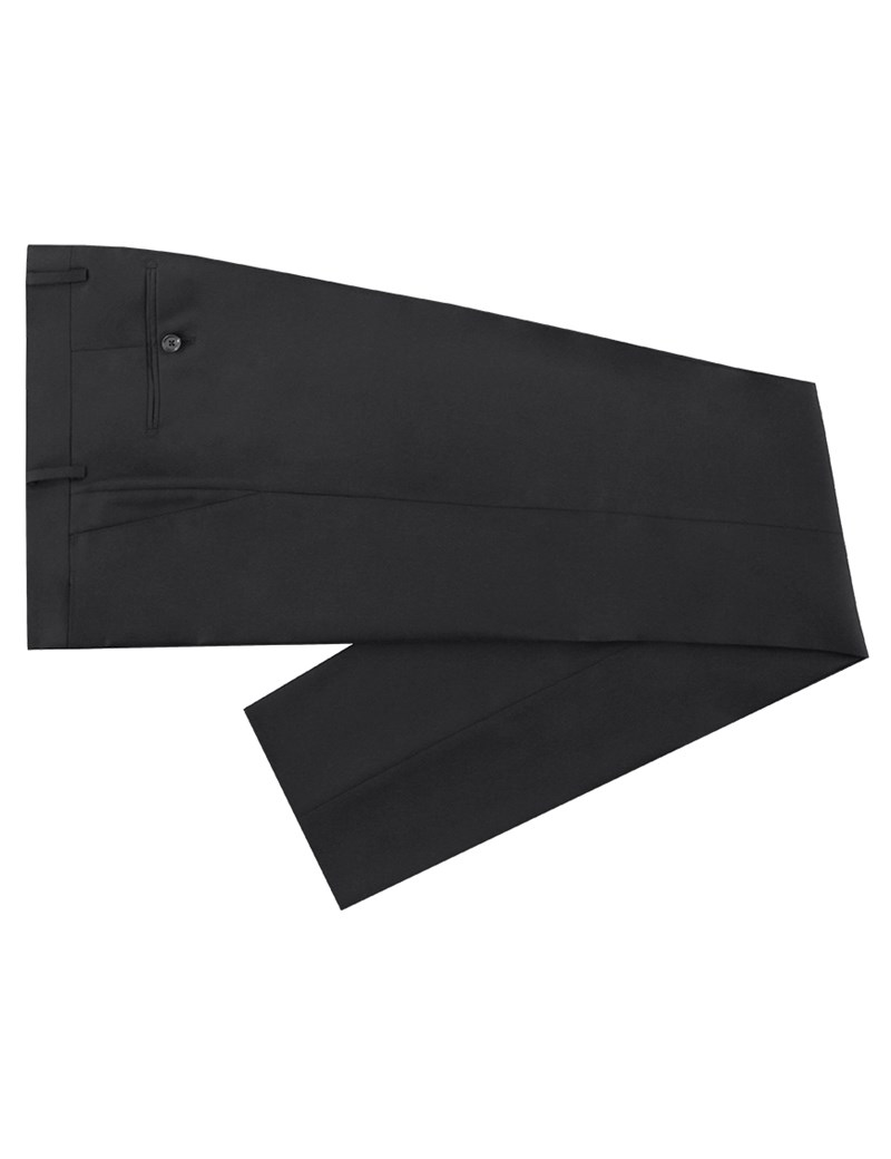 Men's Black Twill Extra Slim Fit Suit Trouser - Super 120s Wool