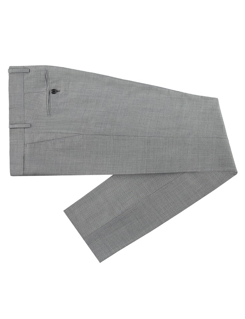 Men's Grey Twill Extra Slim Fit Suit Trouser - Super 120s Wool