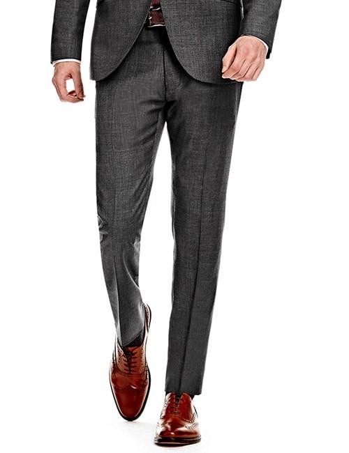 Men's Charcoal Extra Slim Fit Suit Trouser - Super 120s Wool