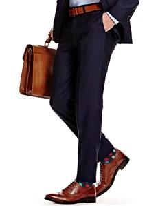 Men's Dark Navy Extra Slim Fit Suit Trouser - Super 120s Wool