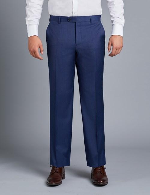 Men's Blue End On End Classic Fit Suit Pants