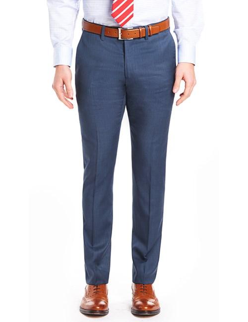 Men's Blue Sharkskin Slim Fit Pants