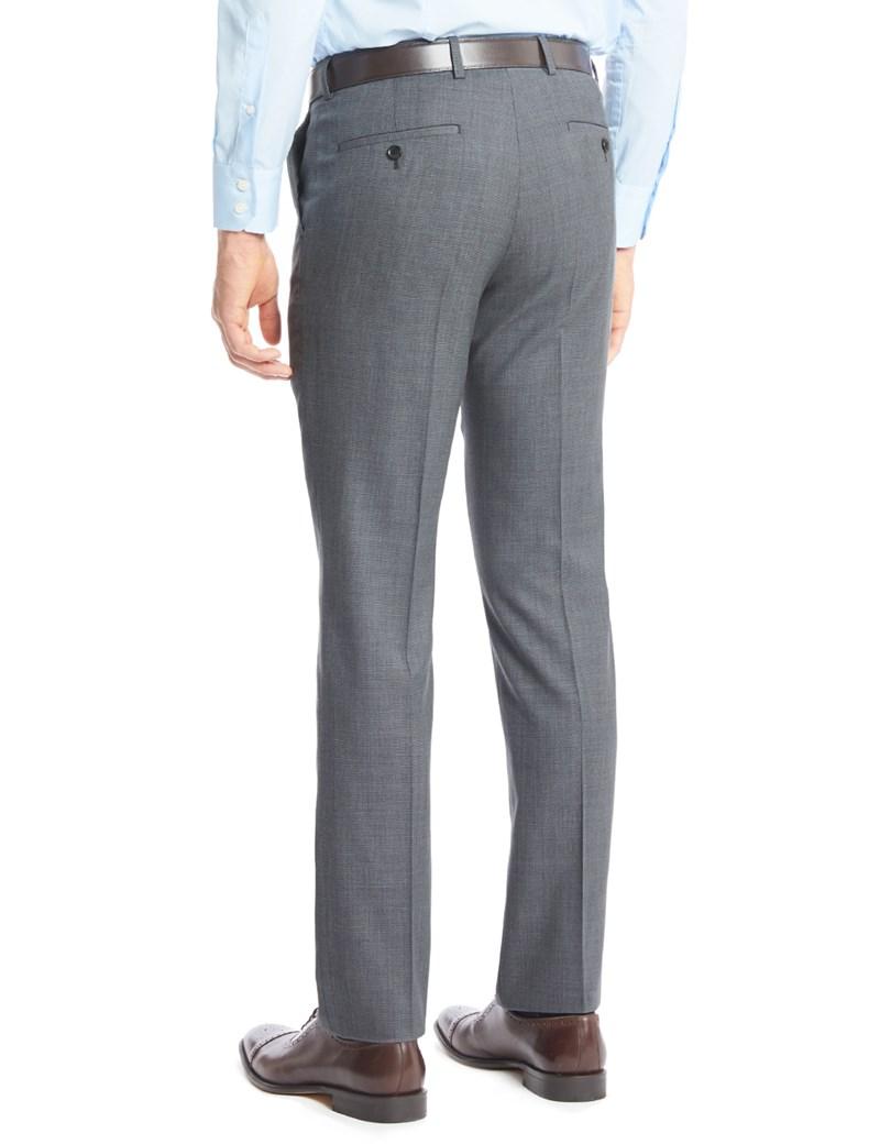 Men's Dark Grey End On End  Slim Fit Suit Pants