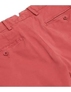 Herren Chino – Slim Fit – Garment Dye – Rostrot