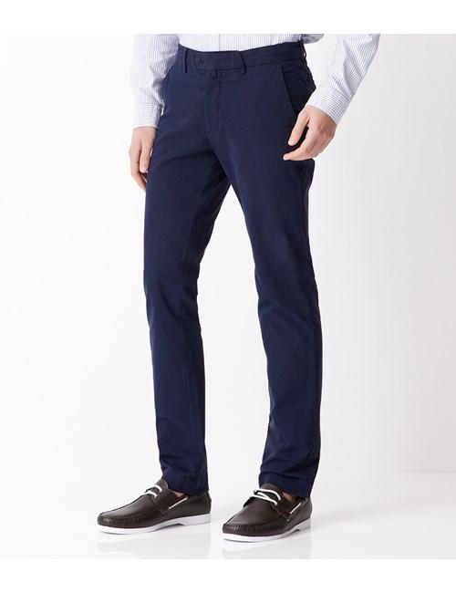 Men's Navy Garment Dye Extra Slim Fit Chinos