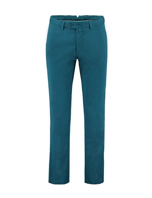 Men's Teal Garment Dye Slim Fit Chinos