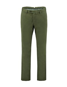 Herren Chino – Slim Fit – Garment Dye – Olivgrün