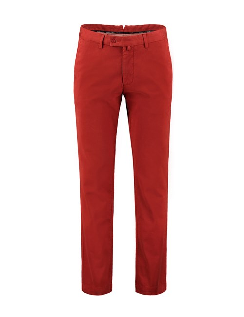 Men's Burnt Orange Slim Fit Garment Dye Chinos