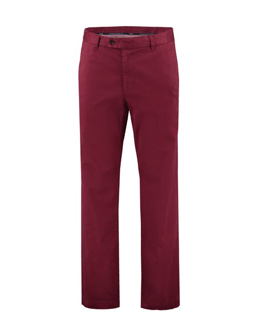 Men's Burgundy Garment Dye Classic Fit Chinos
