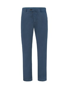 Men's Airforce Blue Garment Dye Slim Fit Chinos