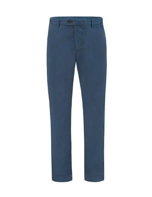 Men's Airforce Blue Slim Fit Garment Dye Chinos