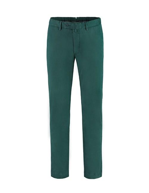 Men's Dark Green Slim Fit Garment Dye Chinos