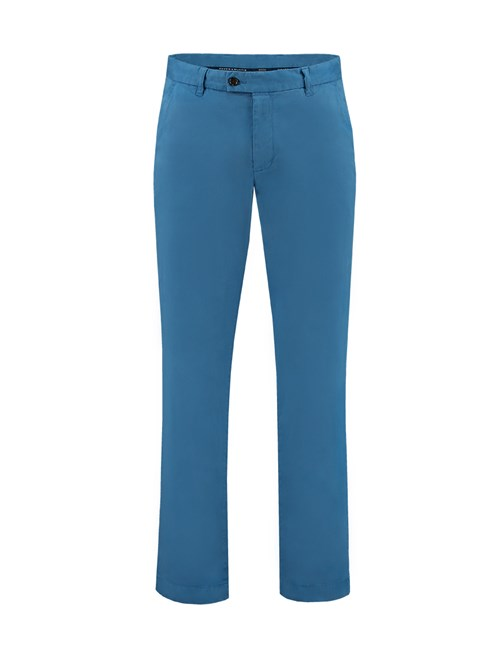 Men's Teal Slim Fit Garment Dye Chinos