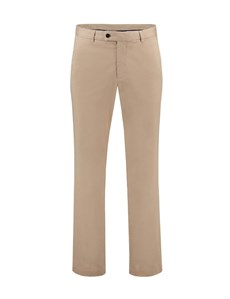 Men's Beige Classic Fit Garment Dye Chinos