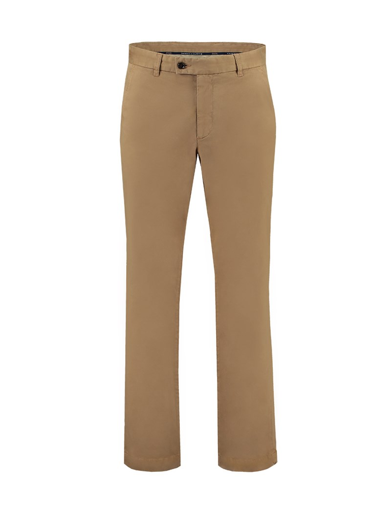 Men's Brown Garment Dye Classic Fit Chinos