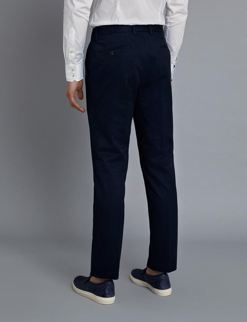 Herren Chino – Regular Fit – Garment Dye – Marine