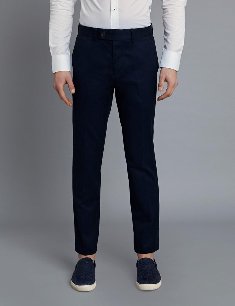 Men's Navy Garment Dye Regular Fit Chinos
