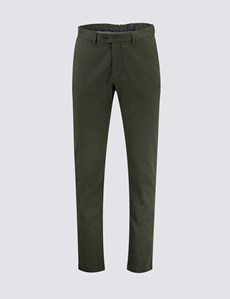 Men's Khaki Garment Dye Slim Fit Chinos