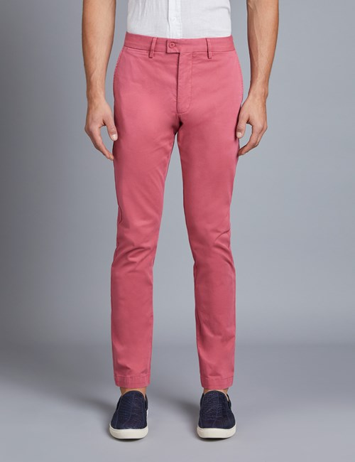Herren Chino – Slim Fit – Garment Dye – Mauve