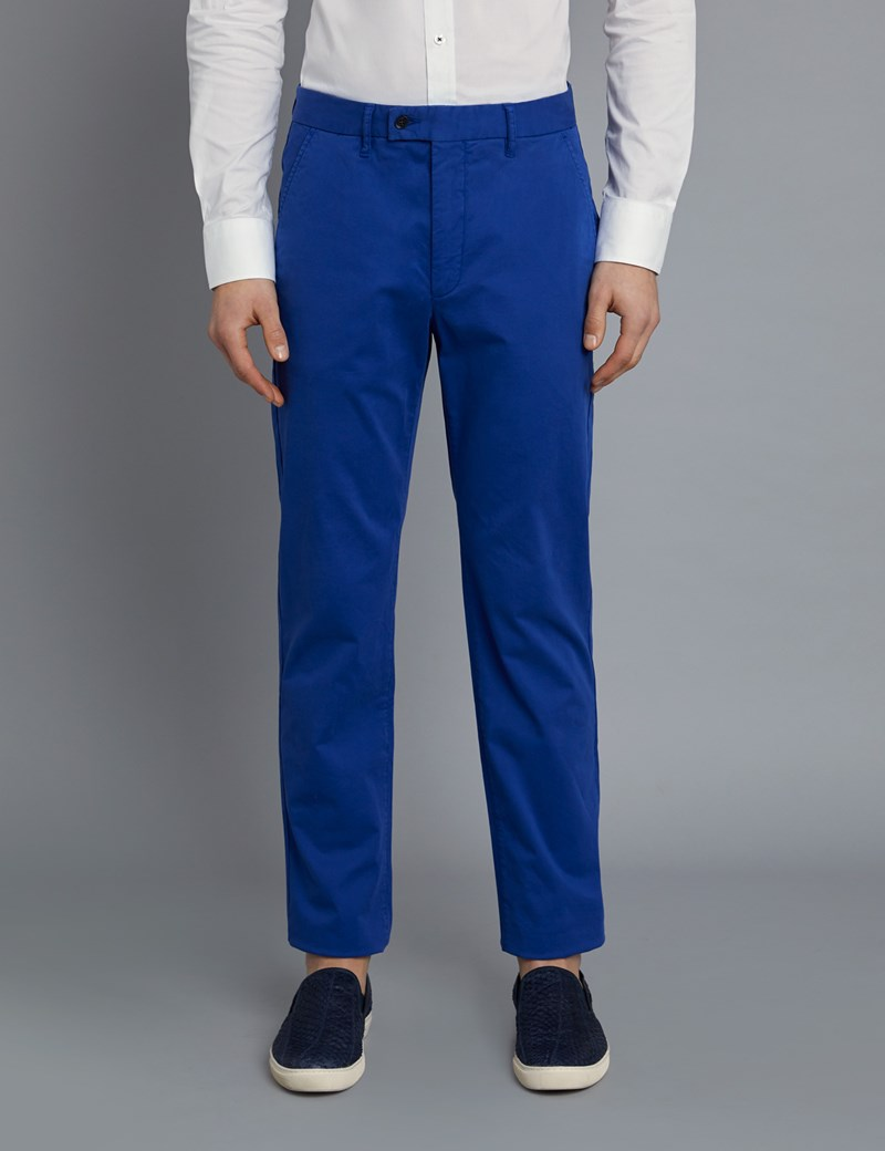 Men's Blue Garment Dye Classic Fit Chinos