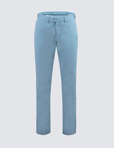 Men's French Blue Garment Dye Classic Fit Chinos