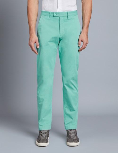Herren Chino – Classic Fit – Garment Dye – Mintgrün
