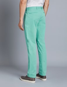 Men's Green Garment Dye Classic Fit Chinos