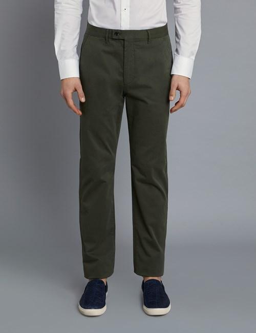 Herren Chino – Classic Fit – Garment Dye – Khaki