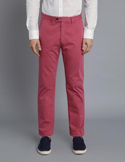 Herren Chino – Classic Fit – Garment Dye – Mauve