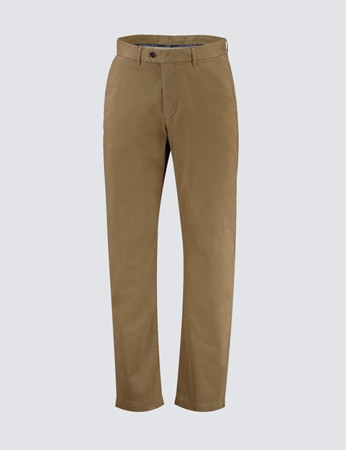 Men's Tan Garment Dye Classic Fit Chinos