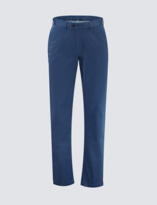 Men's Dark Turquoise Garment Dye Classic Fit Chinos