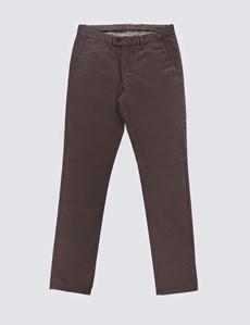 Herren Chino – Slim Fit – Garment Dye – Braun